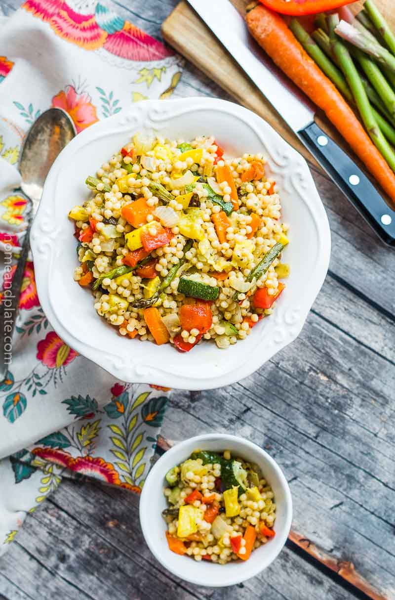 Pearl Couscous with Roasted Vegetables