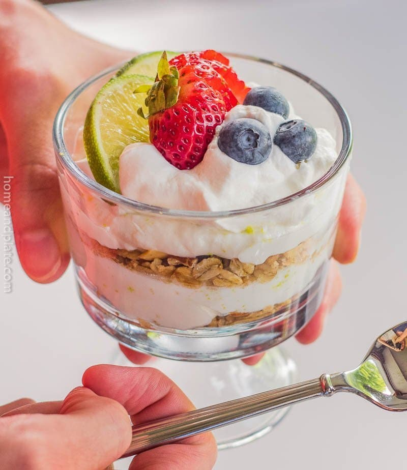 Key Lime Yogurt Parfait with Granola