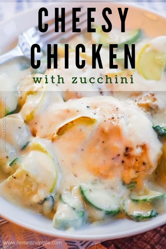 Serve up this Cheesy Chicken with Zucchini and Squash in under 30 minutes.