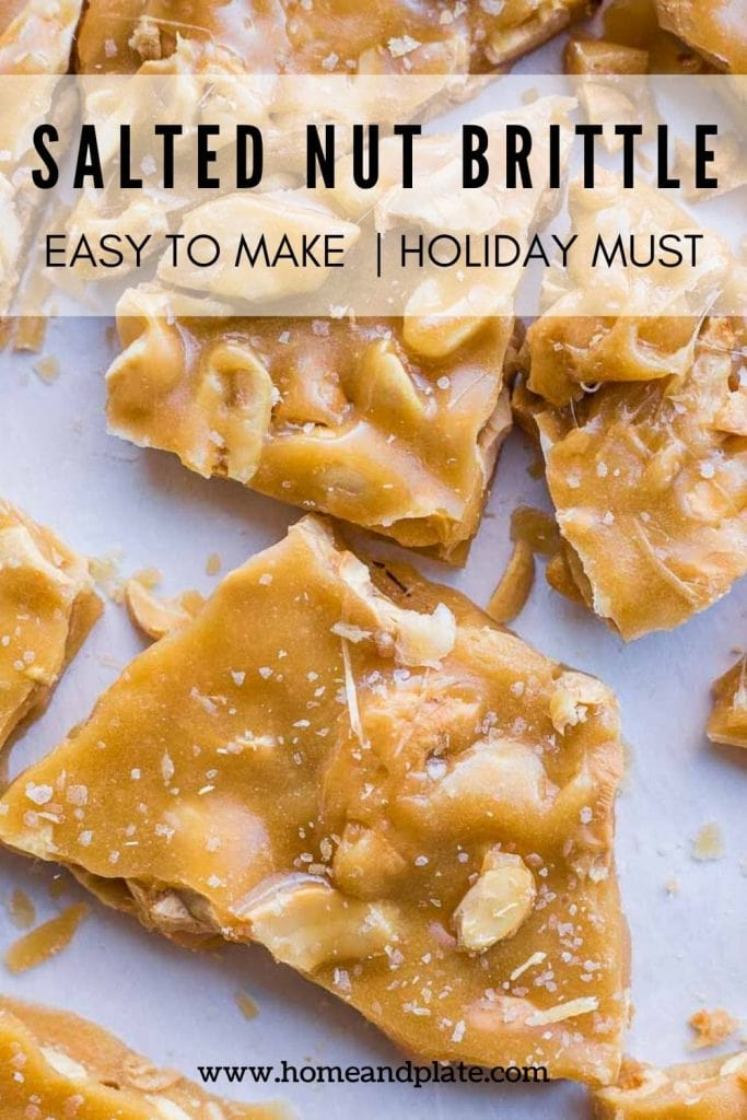 Salted Nut Brittle | This salted nut brittle is a combination of sweet and salty and is the best homemade candy you can make.