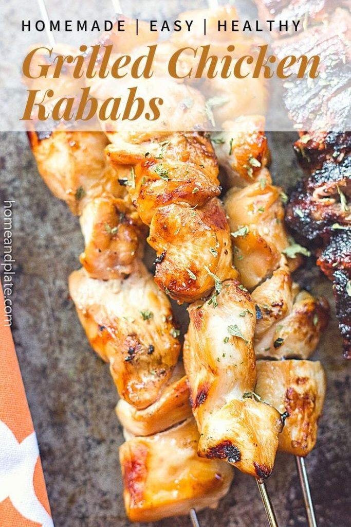 Grilled Chicken Kababs | An easy marinade will inspire you to fire up the grill this summer.